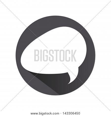 flat design conversation bubble icon vector illustration