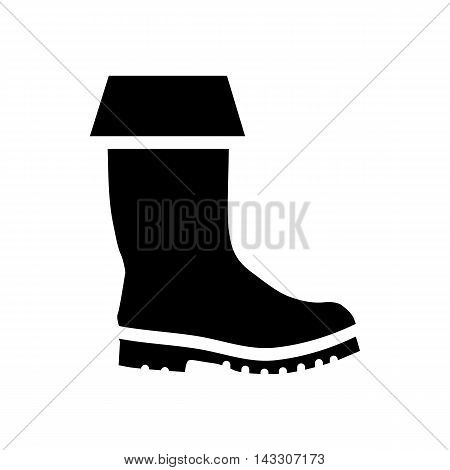 Rubber boots icon in simple style on a white background