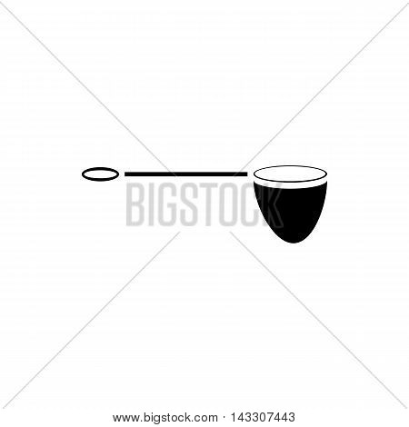 Net for fishing icon in simple style on a white background
