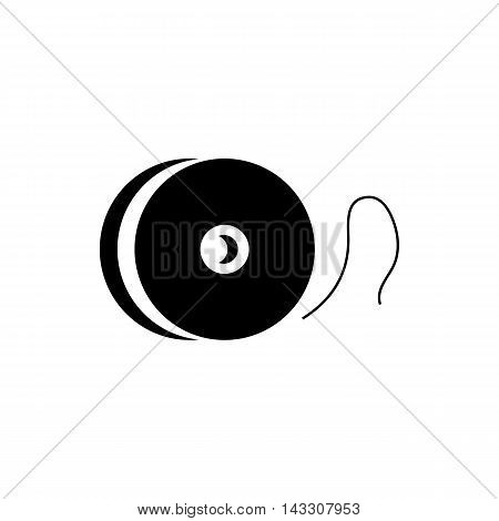 Fishing reel icon in simple style on a white background