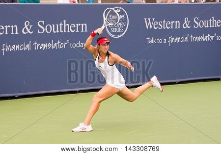 Mason Ohio - August 16 2016: Louisa Chirico in a match at the Western and Southern Open in Mason Ohio on August 16 2016.