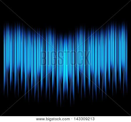 Waveform. Vector illustration for club, radio, party, concerts or the audio technology advertising background. Easy to use.