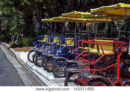 surrey bikes are ready for rent and fun