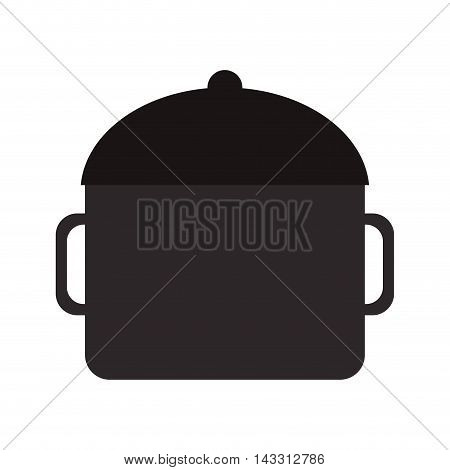 flat design cooking pot icon vector illustration