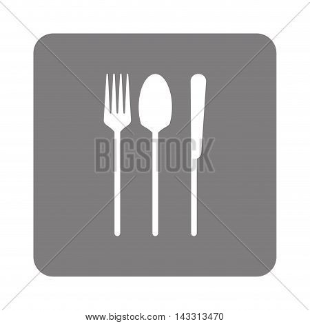 flat design fork spoon knife icon vector illustration