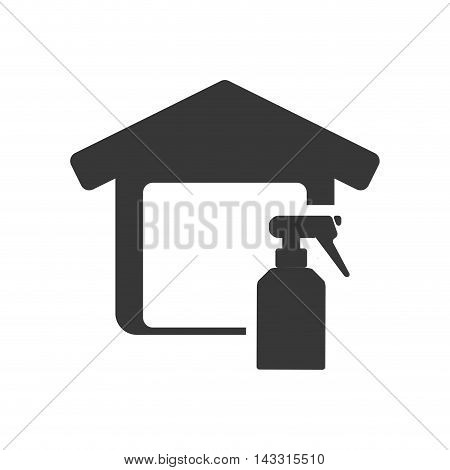watering can tool house home repair construction silhouette icon. Flat and Isolated design. Vector illustration