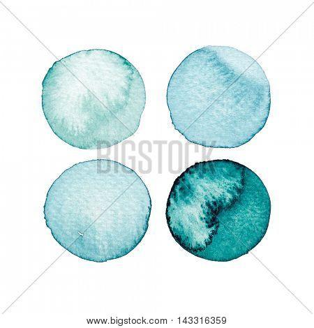 Watercolor Circles (hand drawn)