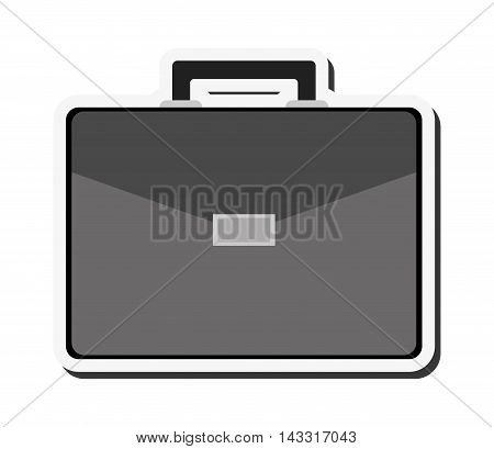 flat design business briefcase icon vector illustration