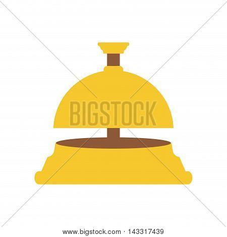 flat design hotel bell icon vector illustration