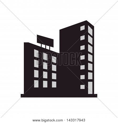 flat design single building icon vector illustration