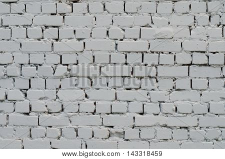 Background of a white painted brick wall