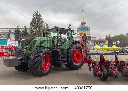 Ukraine Kiev - June 10 2016: Exhibits International agro-industrial exhibition