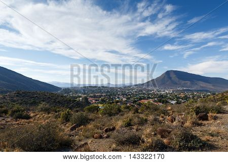 Cloudy Day In The City - Graaff-reinet Landscape