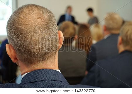 Meeting In A Conference Hall