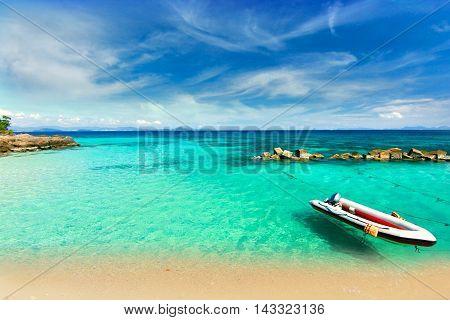 Paradise beach in Koh maiton island , phuket ,Thailand