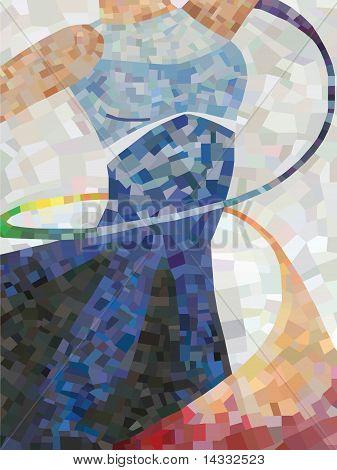 Mosaico de la bailarina
