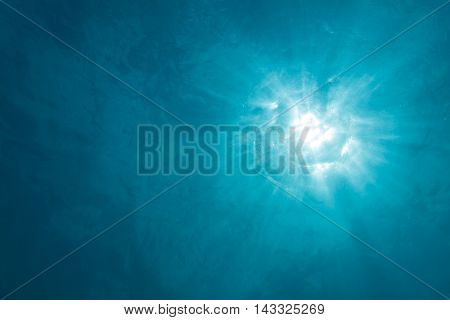 Uderwater Sunlight Background With Rays