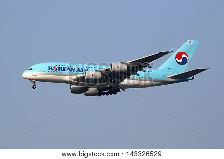 Korean Air Airbus A380 Airplane Seoul Incheon International Airport
