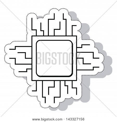 procesor circuit electric isolated icon vector illustration design