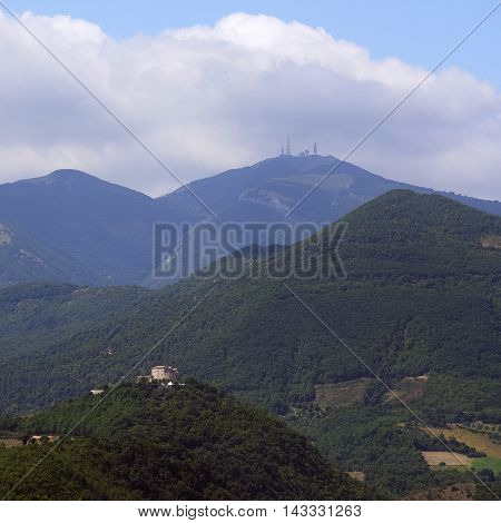 Landscape with the image of an Italian mountain area