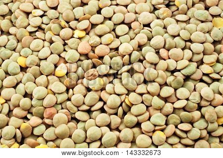 A close up image of dried lentils