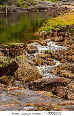 Little stream in mountains picture from Norway.