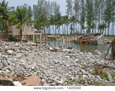 Tsunami Destruction