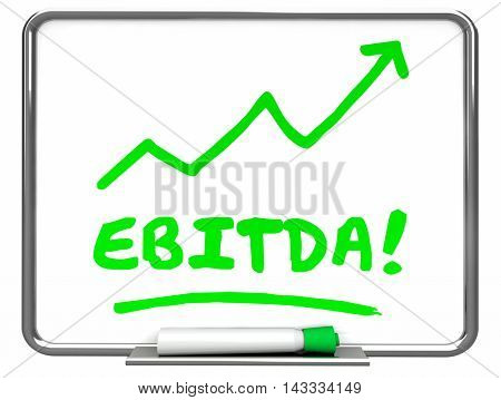 EBITDA Earnings Accounting Profit Revenue Erase Board 3d Illustration