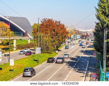 Corso Unita D Italia Boulevard In Turin, Italy (hdr)