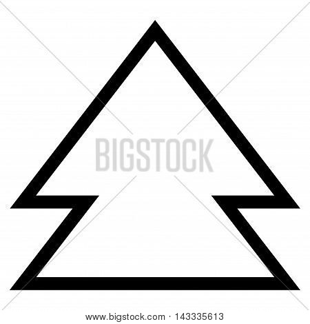 Direction Up vector icon. Style is contour icon symbol, black color, white background.