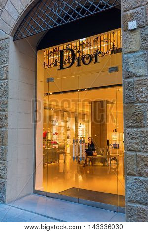 Dior Shop In The City Center Of Florence, Italy