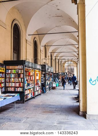 Portici Via Po In Turin Italy (hdr)