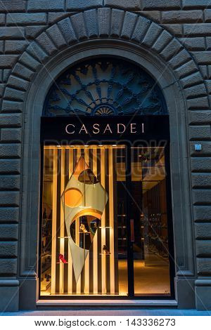 Luxury Shop In The City Center Of Florence, Italy