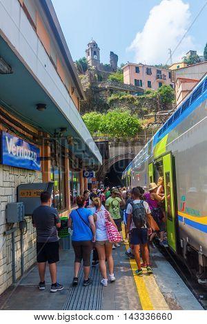 Train Station In Vernazza, Cinqueterre, Italy