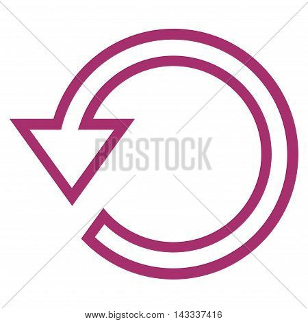 Rotate vector icon. Style is outline icon symbol, purple color, white background.