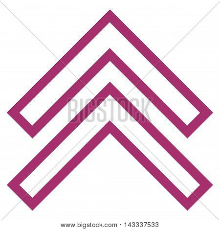 Shift Up vector icon. Style is thin line icon symbol, purple color, white background.
