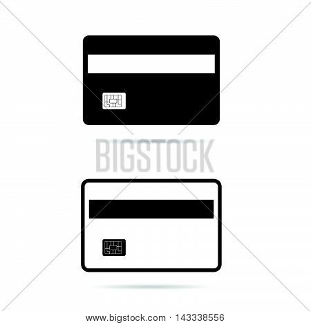 Card Set In Black And White Color Illustration