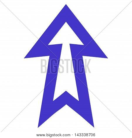 Arrow Up vector icon. Style is thin line icon symbol, violet color, white background.