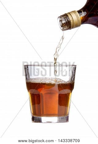 Whiskey Being Poured Into A Glass