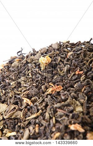 Closeup Of Chinese Silver Needle Hair Down White Tea Of Premium