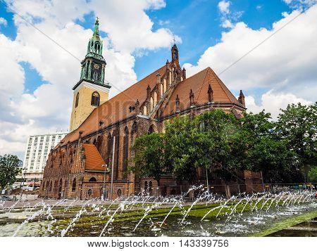 Marienkirche Church In Berlin (hdr)