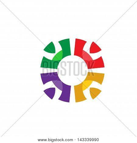 creative social people and partnership logo vector