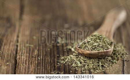 Dried Stevia Leaves (selective Focus)