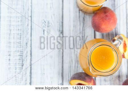 Portion Of Peach Juice