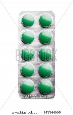Pack Of Pills Isolated Over White Background