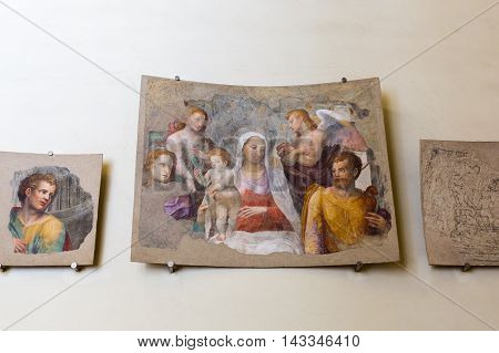 Exhibit In The Museum Of The Siena Cathedral