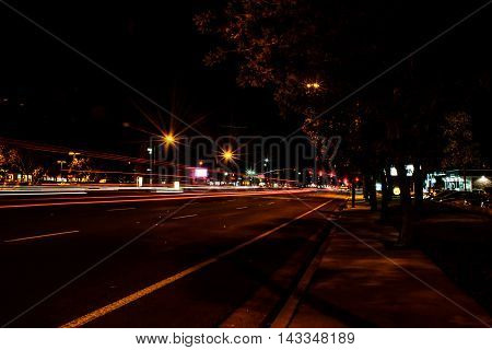 Road In The City Night