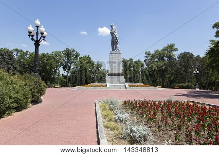 Monument to Taras Shevchenko in the park the city of Dnepropetrovsk