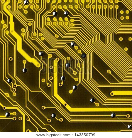 Close Up Of Electronic Circuit Board Without Processor