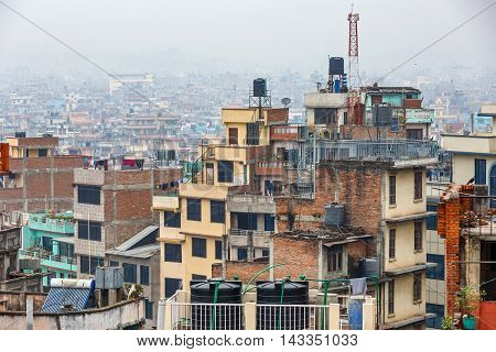Cityscape of Kathmandu city from the rooftop